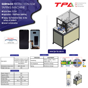 Surface protection film taping machine TPA